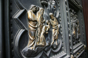 Detail, door of the Baptistery, Florence