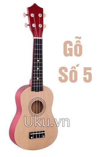 đàn ukulele trơn màu gỗ