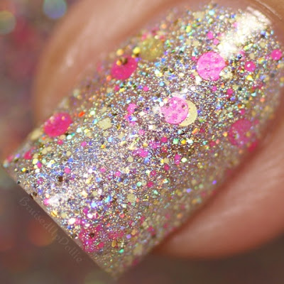 Glam Polish Keep Calm And Flutter On Macro