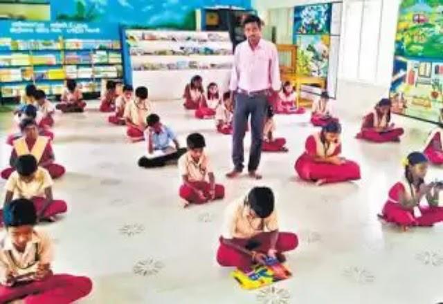 அறிவியல் விழிப்புணர்வு தேர்வை முதன்முறையாக ஸ்மார்ட் போனில் தேர்வெழுதிய அரசுப்பள்ளி மாணவர்கள்