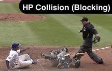 Catcher Illegally Blocking Home Plate