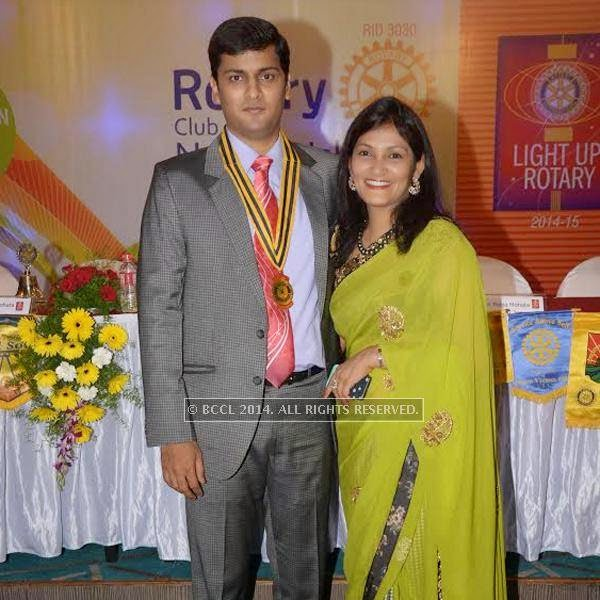 Anand & Pooja Mohata at the New Board of Rotary Ishanya introduction at hotel Centre Point in Nagpur.