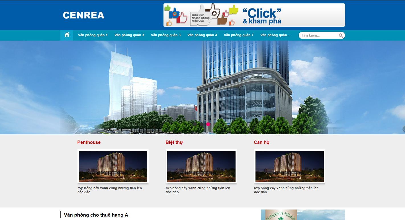 Thiết kế Website về lĩnh vực bất động sản, nhà đất