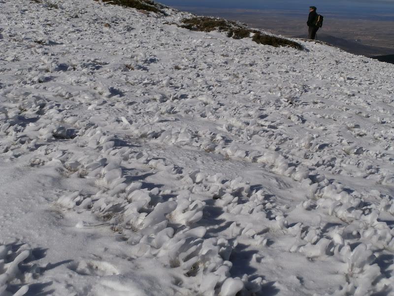 Formas de hielo por el viento