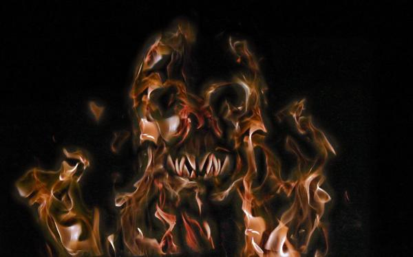Fire Skull By Mozesh, Evil Creatures 2