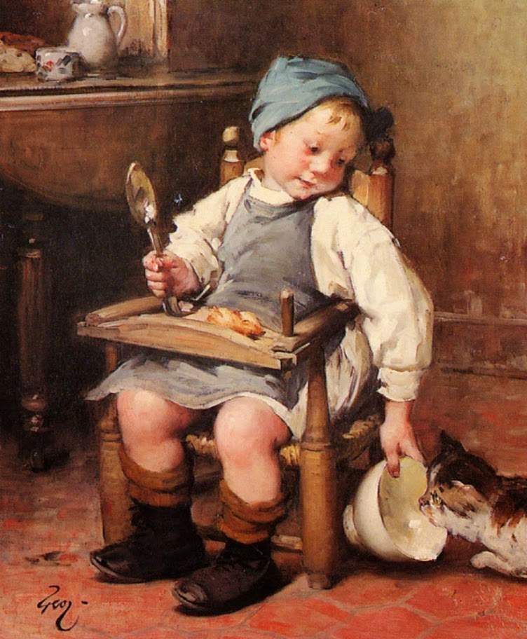 Henry Jules Jean Geoffroy - Sharing a Meal