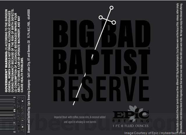 Epic Brewing - Big Bad Baptist Reserve