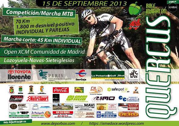 I Quercus Bike Maratón, domingo 15 de septiembre de 2013