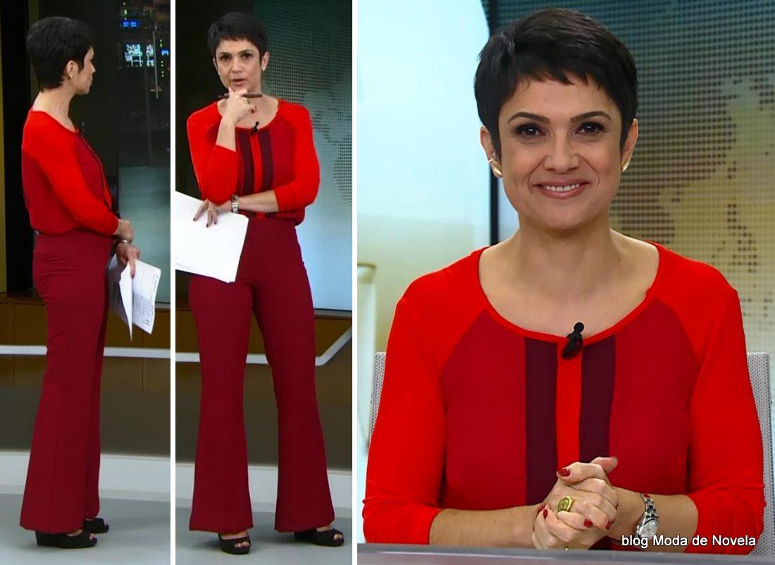 moda do programa Jornal Hoje - look da Sandra Annenberg dia 20 de maio