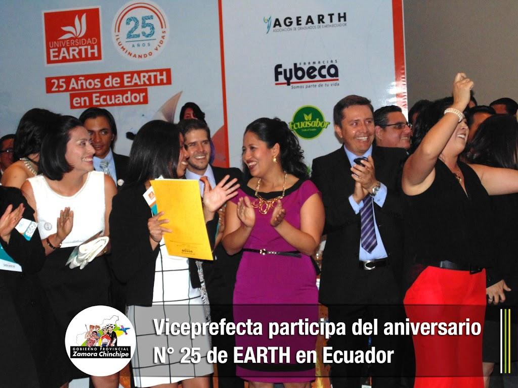 VICEPREFECTA PARTICIPA DEL ANIVERSARIO N° 25 DE EARTH EN ECUADOR