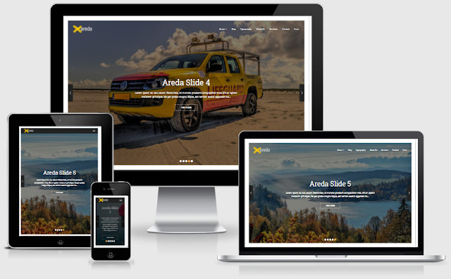 Areda Personal Blogger Template free download
