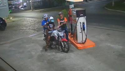 Dupla de moto assalta posto Shekinah ao lado do 'O Zenobão'