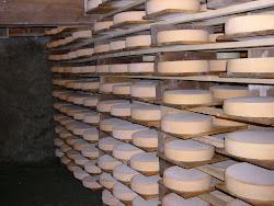 Fromage à raclette de l'Alpage de Peule, fabrication par la famille Coppey Nicolas & Sabine.