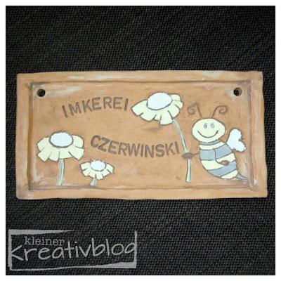 """kleiner-kreativblog: Schild """"Imkerei"""""""