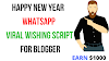 Happy New Year 2021 Wishing script  For Blogger