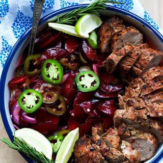 Grilled Pork Tenderloin with Jalapeño-Plum Relish.