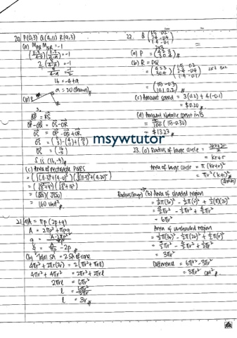 msyw: O LEVEL EMATH PAPER 1 SUGGESTED SOLUTION