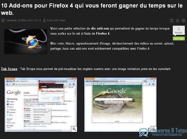 10 extensions pour Firefox 4 qui vous feront gagner du temps sur le web