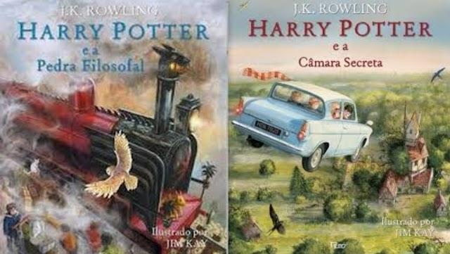 Livros Harry Potter Edição Ilustrada em Promoção