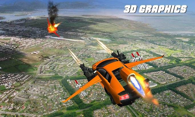 Flying Car Shooting Battle Adventure War Simulator screenshot