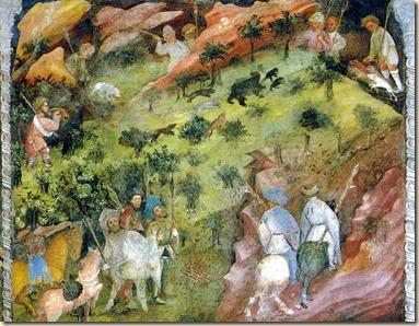medieval caza del osos
