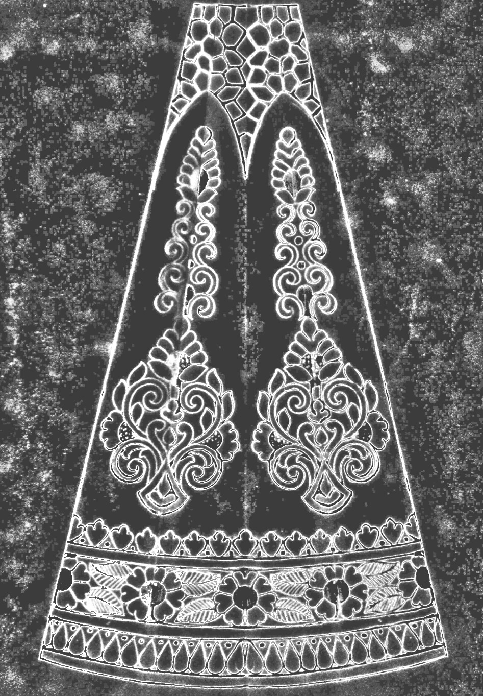 Pencil sketches traditional lehenga design patterns sketch of the year 2020 for embroidery and machine embroidery design.