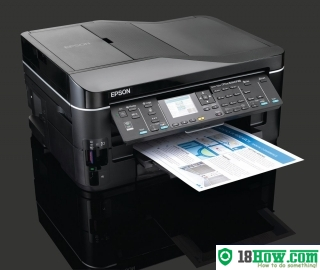 How to reset flashing lights for Epson BX625FWD printer