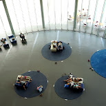 lobby floor at the Miraikan Museum of Emerging Science and Innovation in Odaiba, Tokyo, Japan