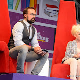 WWW.ENTSIMAGES.COM -   Evgeny Lebedev and Barbara Windsor reading   at   Get Reading festival at Trafalgar Square, London Organised by the Evening Standard in partnership with e-reader firm NOOK July 13th 2013                                             Photo Mobis Photos/OIC 0203 174 1069