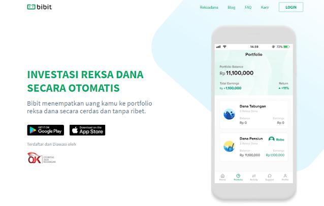 Aplikasi Invesasi Reksa Dana Online Bibit