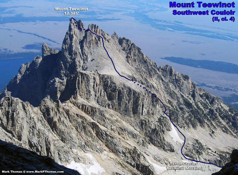 Black Dike Traverse (II, cl. 3-4, moderate snow) and the ...