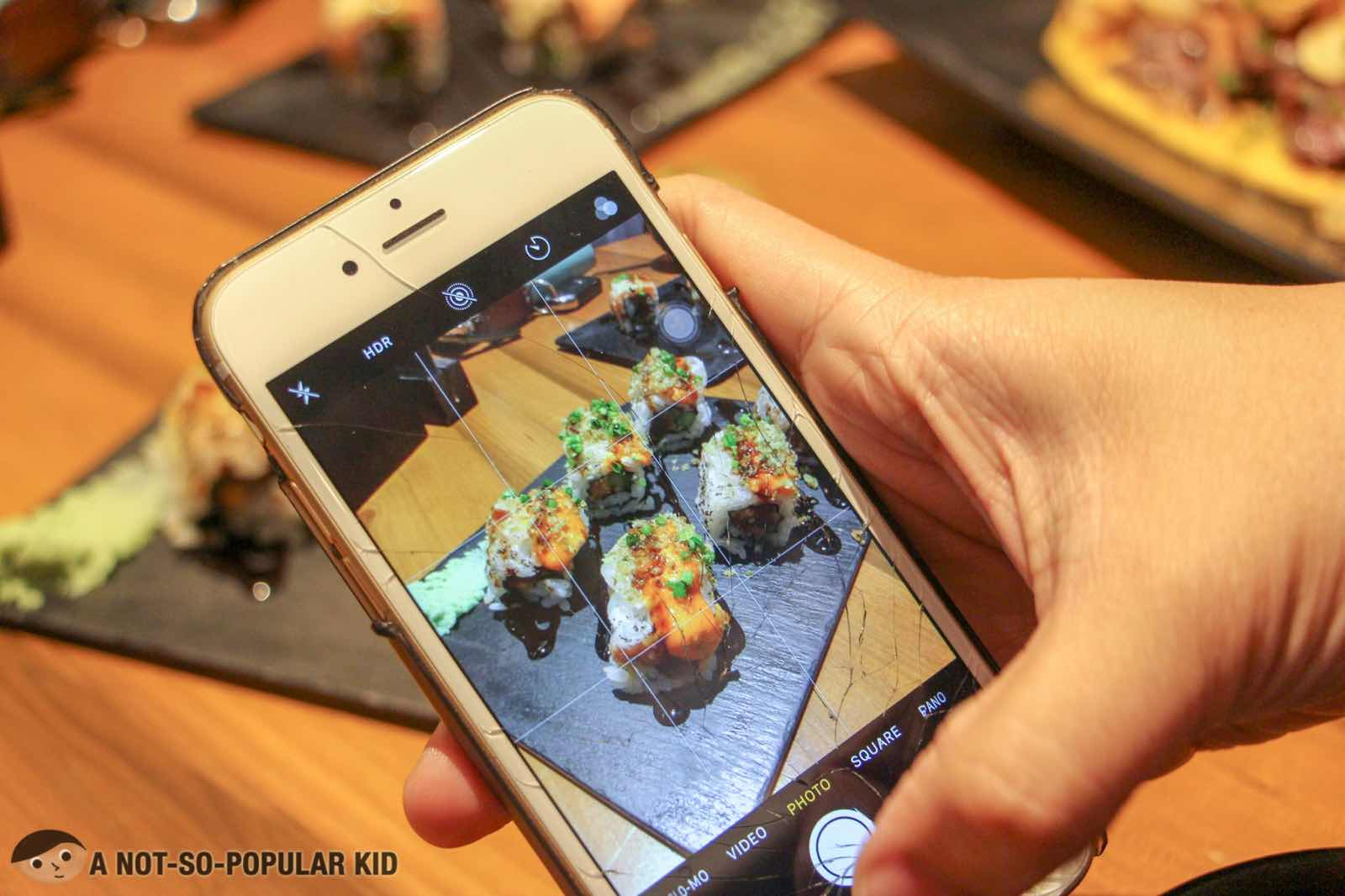 Instagram Sushi Rolls in Ooma