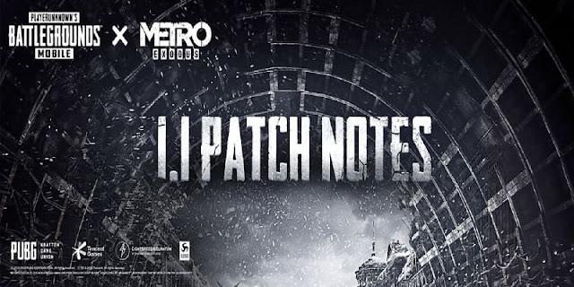 PUBG Mobile 1.1 Güncelleme Yama Notları: Yeni Metro teması, oyun geliştirmeleri ve daha fazlası