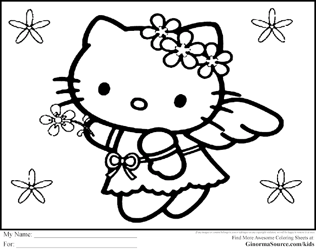Hello Kitty Christmas Coloring Pages  Hello Kitty Christmas Coloring Pages   Ginormasource Kids