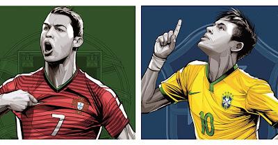 32 Impressionantes Posters Das Selecções Da Copa Do Mundo 2014. O #6 E #26 Arrepiaram-me!!