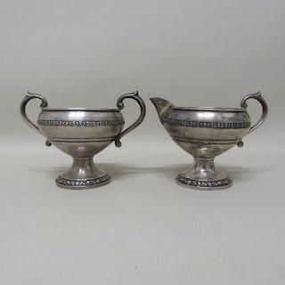 Sterling Silver & Creamer & Sugar Bowl