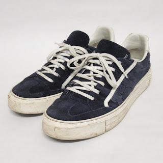 Salvatore Ferrgamo Navy Sneaker