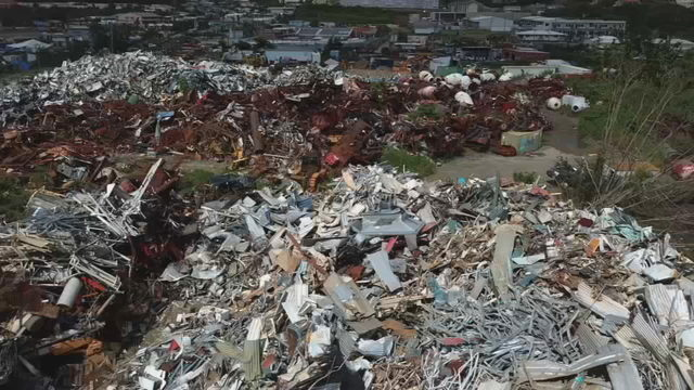 One million pounds of merchandise from the damaged Home Depot in Saint Thomas, Virgin Islands, 26 October 2017. Instead of being used to help reconstruct the island after hurricanes Irma and Maria, it was sent to the Bovoni Landfill and crushed. Photo: U.S. Virgin Islands Daily News