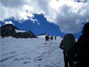 Photo: Our Poters brothers were leading us to avoid Glacier crevasse