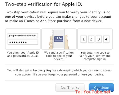 Hình 4 - Những cách bảo mật cho tài khoản iCloud