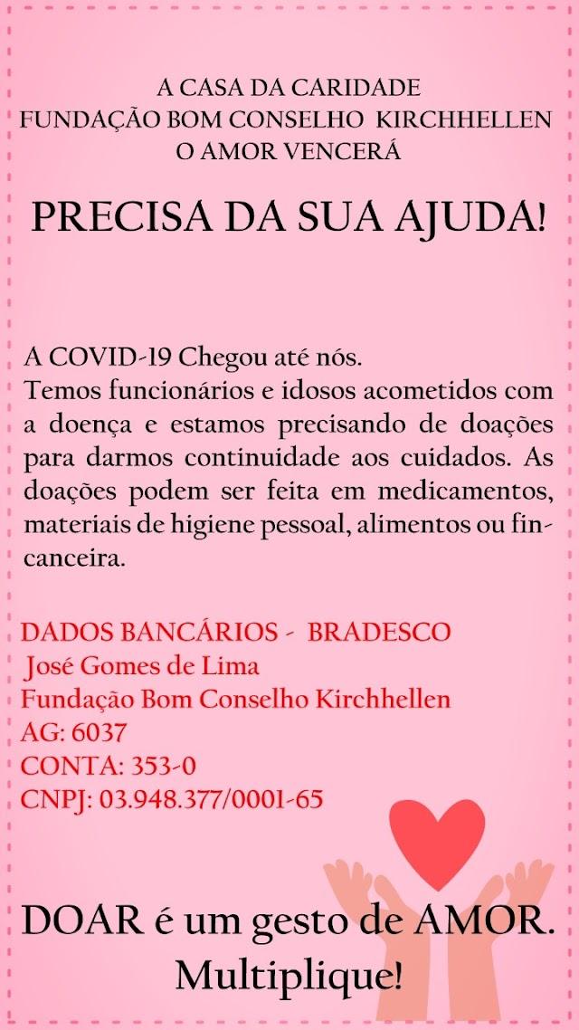 IDOSOS E FUNCIONÁRIOS DA CASA DA CARIDADE DE BOM CONSELHO SÃO INFECTADOS PELO CORONAVITUS