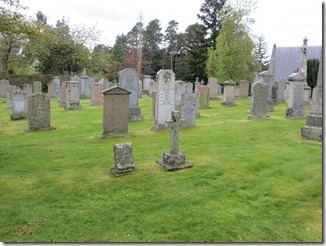 View of headstones including Charles & Margaret Milne