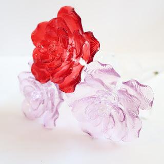 Waterford NEW Fleurology Cyrstal Rose Trio