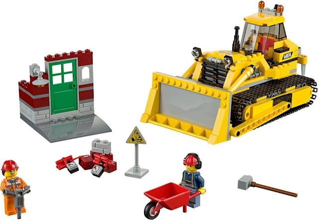 Bộ xếp hình Lego City 60074 Xe Ủi Công trường Bulldozer