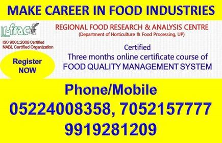 MAKE CAREER IN FOOD INDUSTRIES