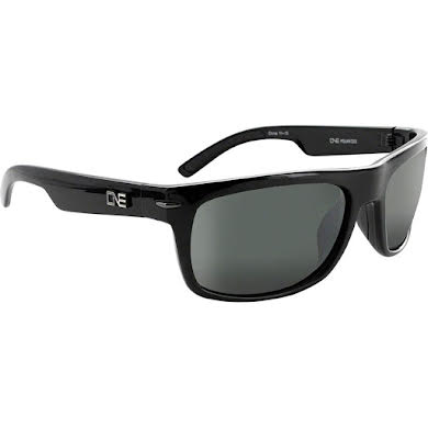 Optic Nerve ONE Timberline Polarized Sunglasses: Shiny Black with Polarized Smoke/Silver Flash Lens