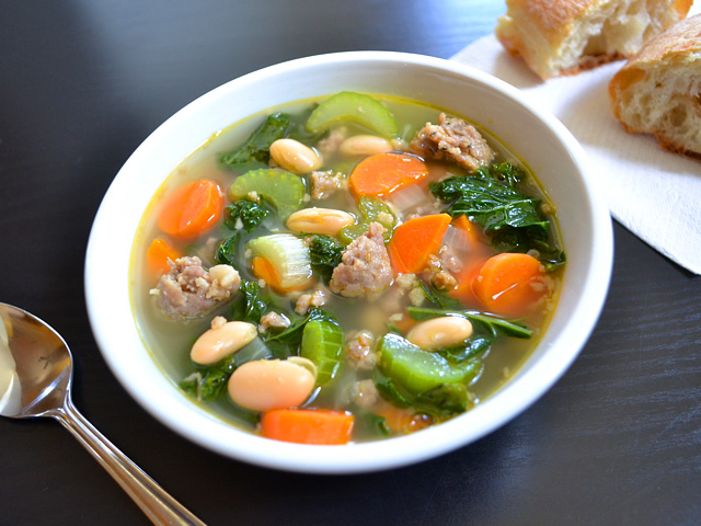 Sausage and Kale Soup - BudgetBytes.com