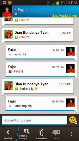 Chatting via BBM For Android