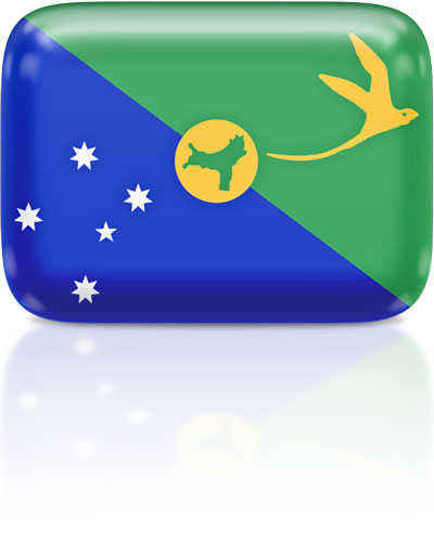 Christmas-Island flag clipart rectangular
