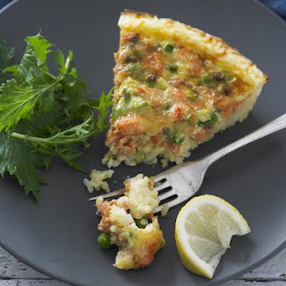 Salmon and Rice Pie